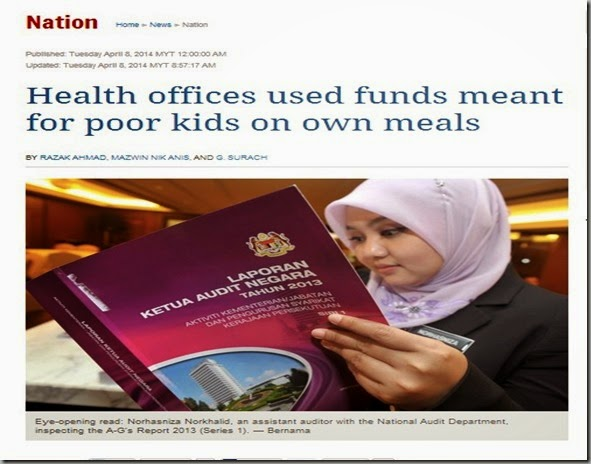 Health offices used funds meant for poor kids on own meals   Nation   The Star Online