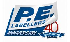 PE labellers 40 anniversary logo