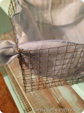 cloth in basket