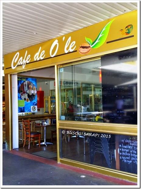 CAFE DE O'LE SHOP FRONT © BUSOG! SARAP! 2015