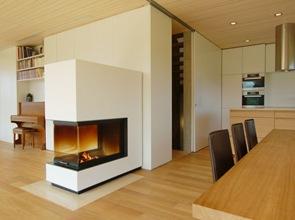 casa moderna revestimiento interior madera