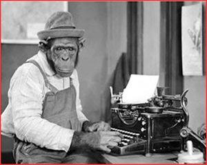 monkey at typewriter
