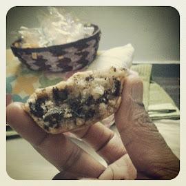 with perfection by Akshhaya Singghvi - Food & Drink Eating ( cupcake )