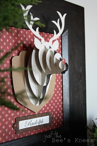3d rudolph wall art -from  just the bee's knees