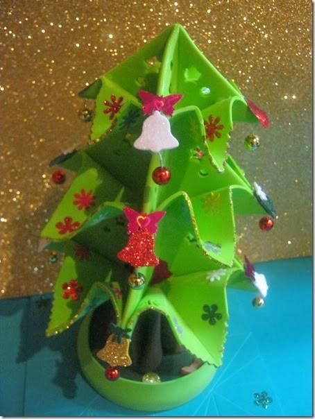 christmas tree Arbol Navideño Artfoamicol Foamy Goma-eva Natal Pino Navidad Decorativo Centro Mesa Moldes Patrones Campanas Estrella Nuevo Arbolito Gratis Free Mariposas 3d Fofucho homemade 1