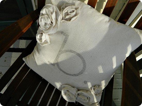 Drop Cloth Monogrammed Pillow 8