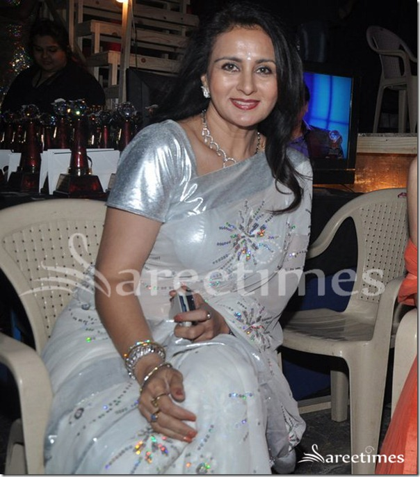 Poonam_Dhillon_White_Saree