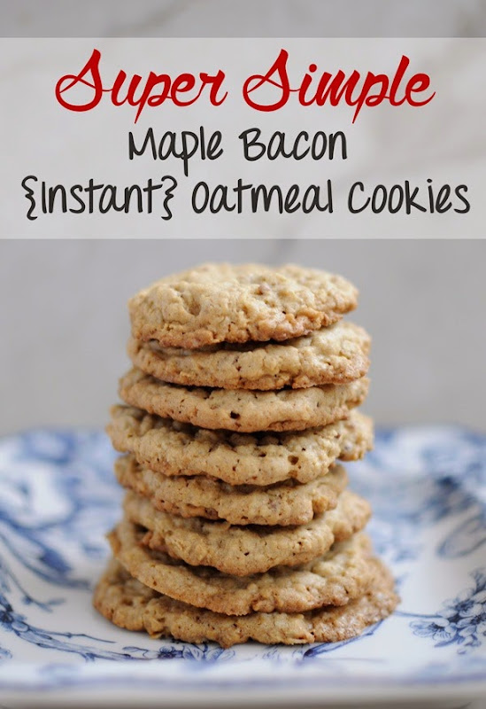 Maple Bacon Instant Oatmeal Cookies Recipe
