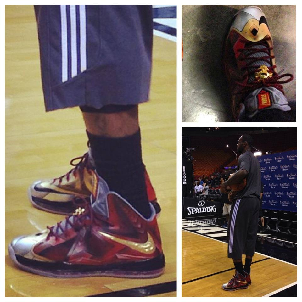 King James Wears his Nike LeBron X Iron Man Customs by ...