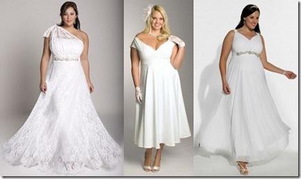 hermosos y elegantes vestidos para novias gorditas 2013 con accesorios