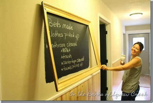 diy wall chalkboard