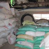 Rijst en maïs opgeslagen