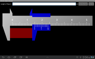 Screenshot of Vernier Caliper Simulator