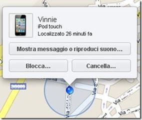 Trova il mio iPhone vecchia grafica su iOS 5