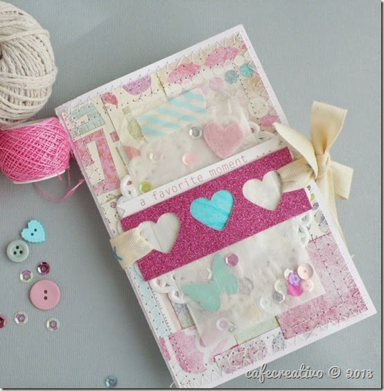 cafe creativo - AnnaDrai - scrapbooking - Vintage journal minia album (1)