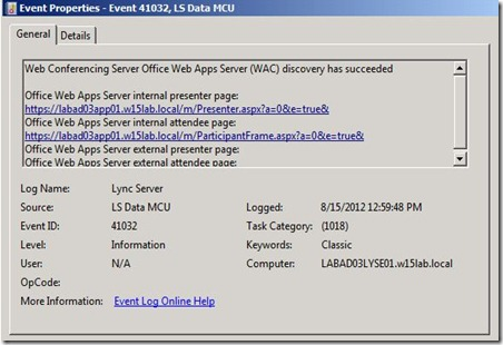 Lync 2013 - OWA - event - 41032