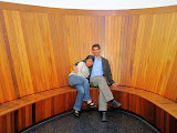 Maria and Mike in the Skyspace room at the Henry Art Museum