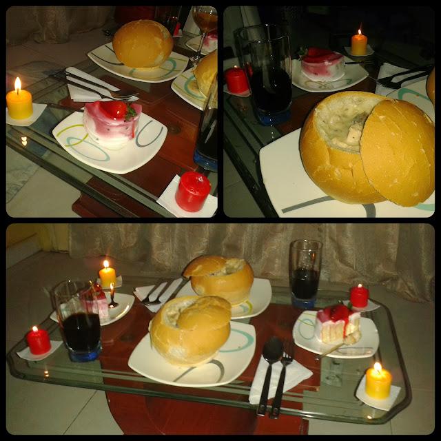 Luciferian blog cena rom ntica pan cook de pollo con champignones vino y velas - Cena romantica con velas ...