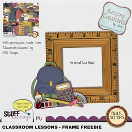 MDK Scraps - Classroom Lessons - Frame Freebie Preview