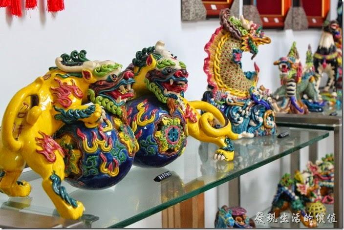 這交趾陶大多以祥獸或傳統故事人物為主,目前似乎也比較能夠在台灣看到而已,極具台灣傳統文化。