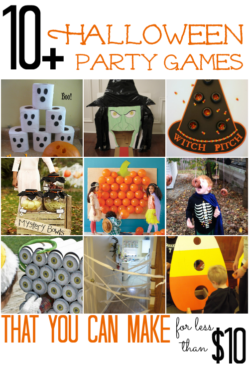 10  Halloween Party Games that you can make for less than $10