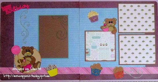 christel bear n cupcake and flourished cupcakes digis