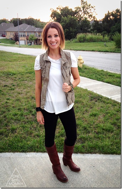 Make Your Own Cargo Vest in Three Easy Steps- Perfect for layering this Fall!