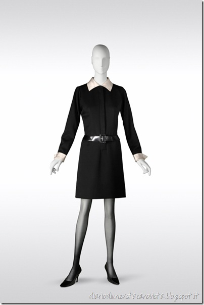 Yves Saint Laurent, for Catherine Deneuve's character in Belle de Jour – the Belle de Jour dress, haute couture collection, Spring-Summer 1967