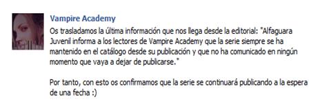 facebook Vampire Academy