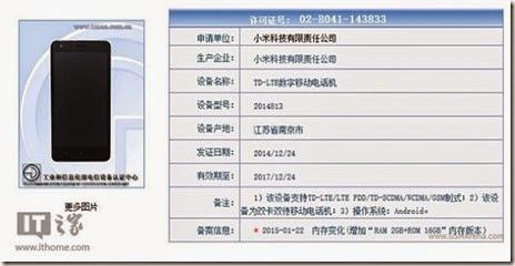 Xiaomi Redmi 2 RAM 2GB