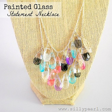 Painted Glass Statement Necklace - The Silly Pearl