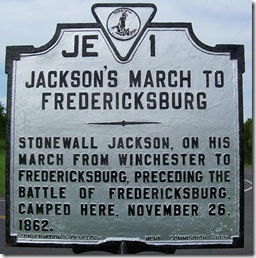 Jackson's March To Fredericksburg, marker JE-1, Madison Co. VA