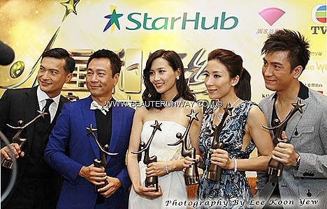 Starhub TVB Awards 2012 Hong Kong actor actress celebrities Tavia Yeung Chen Fala, Selena Li Kate Tsui  Sunny Chan Wayne Lai Kenneth Ma MARINA BAY SANDS SINGAPORE GREEN CARPET