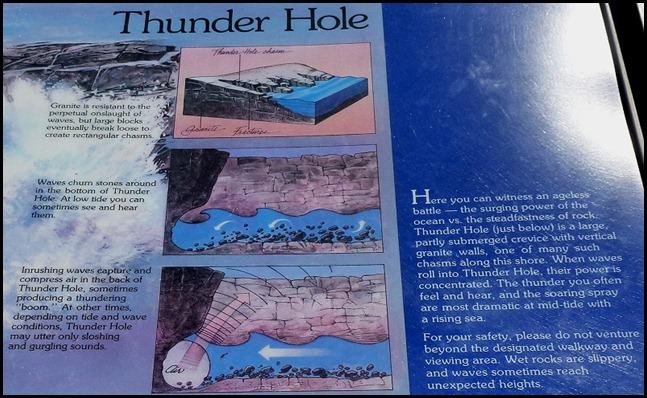 21c - Thunder Hole Poster