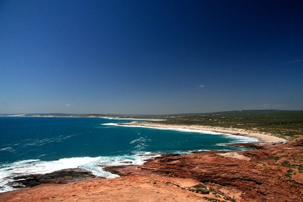 Kalbarri coastline beach sand