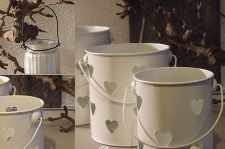 witte lantaarns met hartjes in 3 maten weergegeven