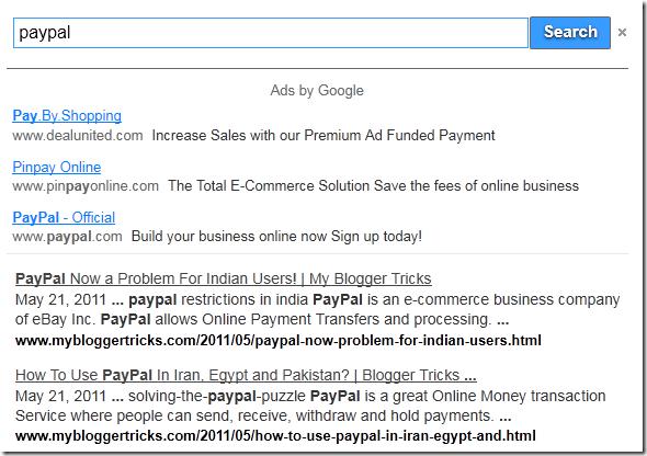 Google Custom Search Results