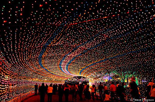 Austin's annual Trail of Lights in Zilker Park, Austin Texas, December ...