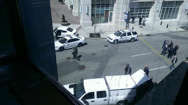 The scene in Providence