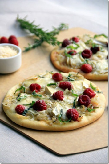 Raspberry Brie Pizzas