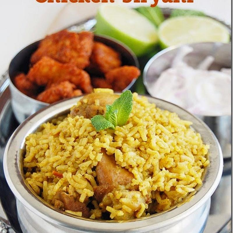Chicken biryani (pressure cooker method)