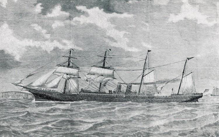 El ARAWA en estado de origen. Del libro OCEAN STEAMERS. De John Adams..JPG