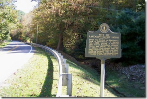 Site of Randolph McCoy House marker along KY Route 319