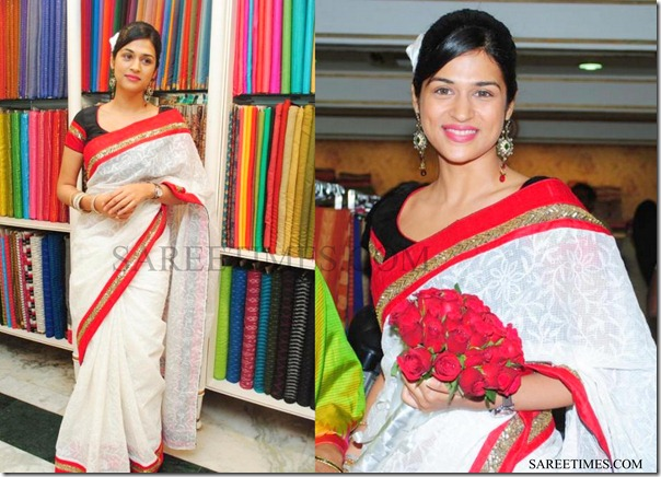 Shraddha_Das_White_Saree