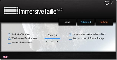 ImmersiveTaille Settings