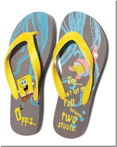 bossini x Spongebob flip flops
