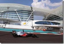 Magnussen nei test di Abu Dhabi 2012