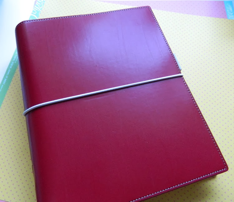 Filofax Domino Red A5