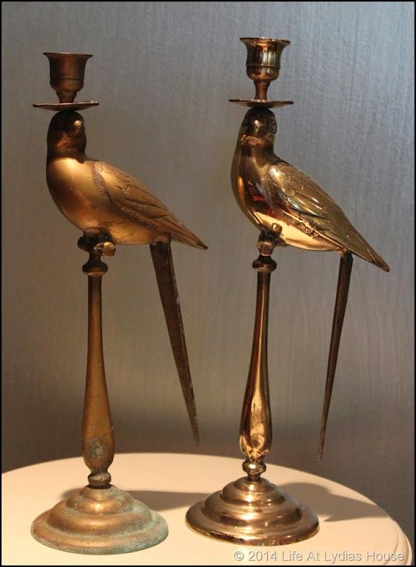 brass parrot candlesticks somparison