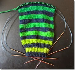 Basic Sock - Fab Funky Fibers - Shades of Green